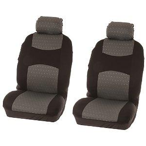 Universāli auto sēdekļu pārvalki diviem priekšējiem sēdekļiem, melni ar tumši pelēku  22.00