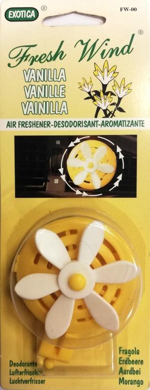 Auto gaisa atsvaidzinātājs ventilātors - vaniļas