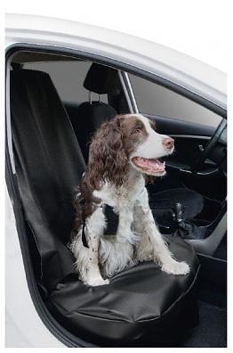 Priekšējā auto sēdekļa pārklājs suņu pārvadāšanai